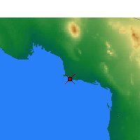 Nearby Forecast Locations - Puerto Peñasco - Mapa