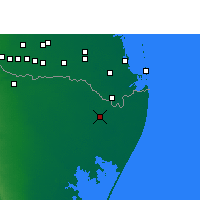 Nearby Forecast Locations - Heroica Matamoros - Mapa